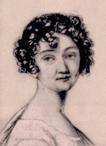 Мария Михайловна. Соболевская. Миниатюра Ж.-Д. Ехса. 1808.