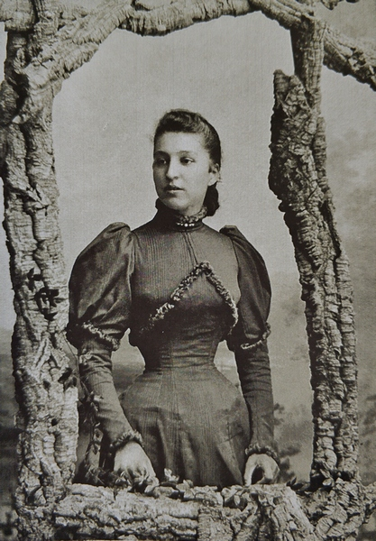 Портрет Веры Анатольевны Константинович (Пушкиной). Фото конец 1880-х – начало 1890-х.