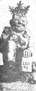 """Жуков И.Н. Статуэтка """"Санузка - бог счастья"""". 1920-е гг. Обожженная глина. Фото из изд.: Красная нива. 1928. №9."""