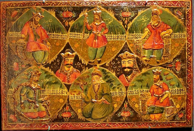Неизвестный художник. Шесть древних царей. XIX в. Папье-маше, темпера, лак.