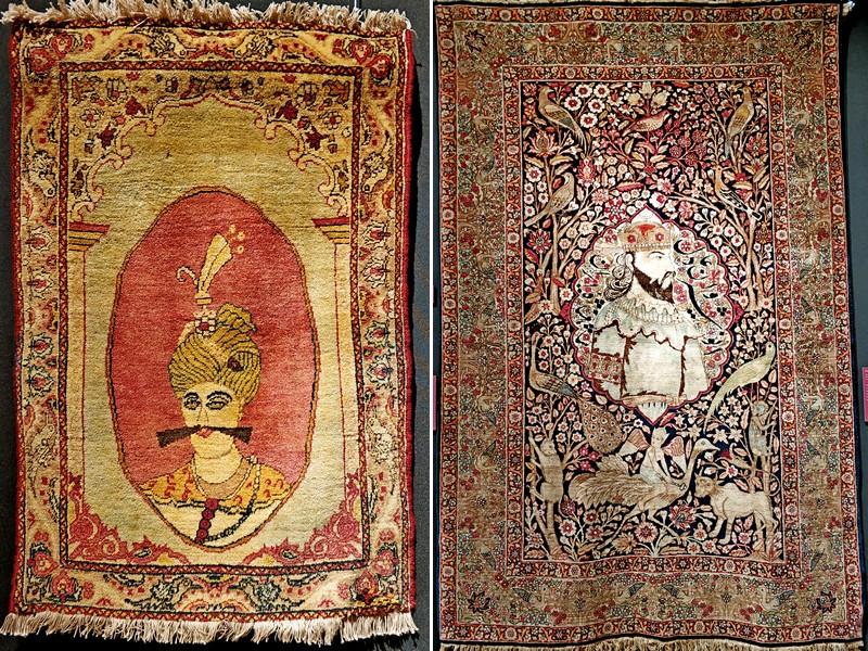 Ковры: Аббас Великий. Конец XIX в. и Ануширван Справедливый (царь из династии Сасанидов (531-579)). Начало ХХ в.