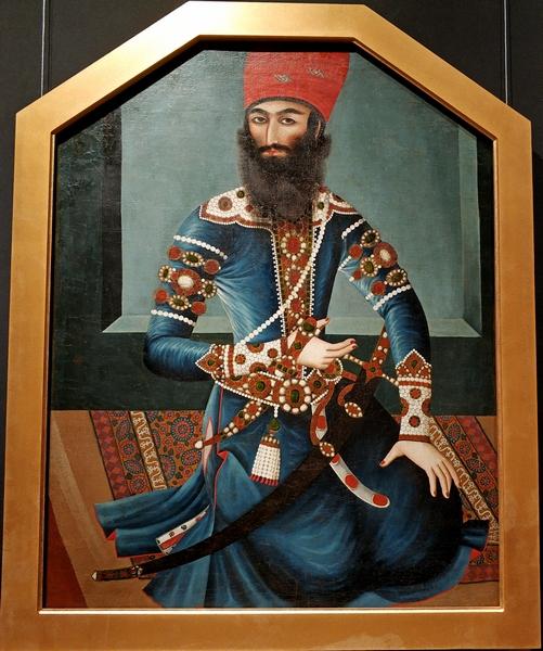 Неизвестный художник. Портрет Аббаса-мирзы. Первая половина XIX в. Холст, масло.