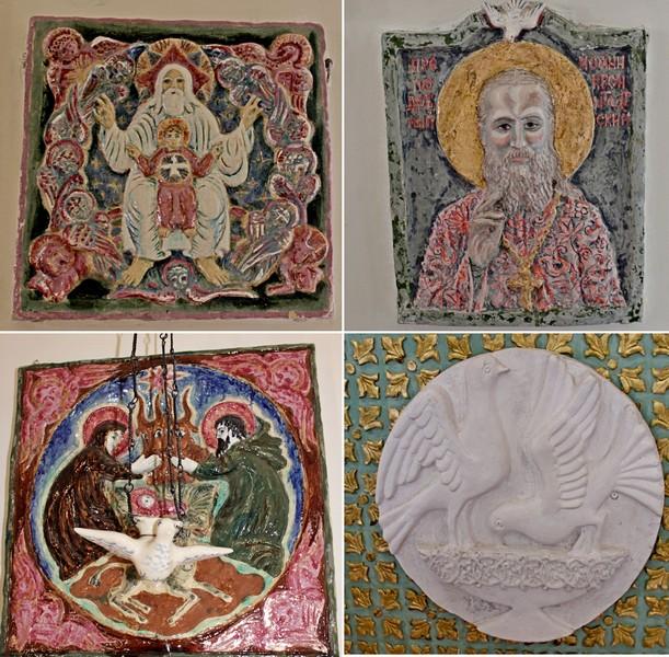 Иконы: Новозаветная Троица, Преподобный Иоанн Кронштадтский, Рождество.