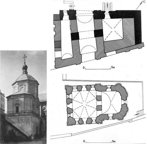 План южных ворот и храма Петра и Павла.