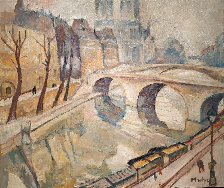 Мела Мутер. Парижский пейзаж. Мост Сен-Мишель и Нотр-Дам. Около 1925. Холст, масло. Собрание галереи ди Вероли, Париж.
