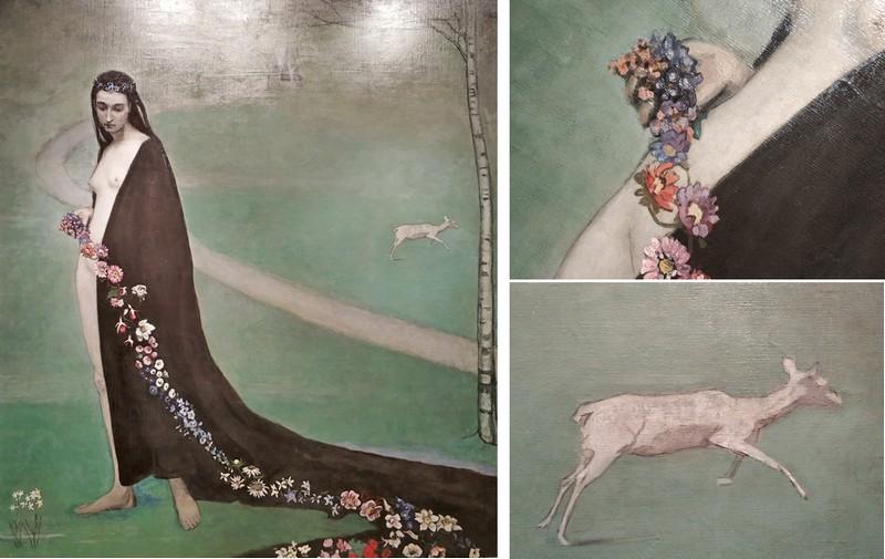 Ромейн Брукс. Женщина с цветами. Весна. Около 1912. Холст, масло. Собрание Люсиль Одуи, Париж.