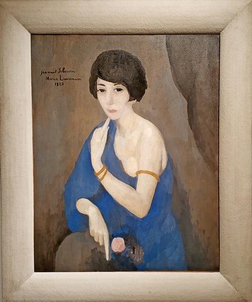 Мари Лорансен. Портрет Жанны Сальмон. 1923. Холст, масло. Музей современного искусства Парижа.