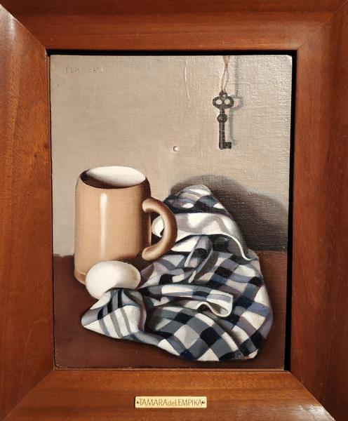 Тамара Лемпицкая. Ключ и яйцо. 1946. Холст, масло. Собрание семьи Карисаловых.  – Это работа американского периода.