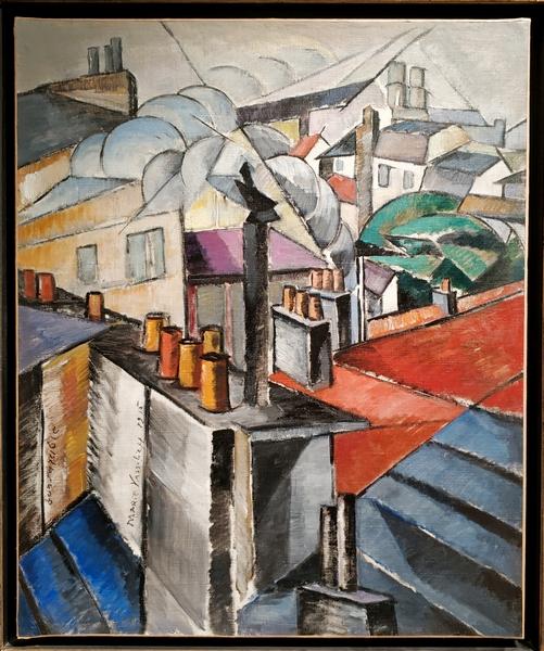 Мария Васильева. Крыши. 1915. Холст, масло. Собрание В.Царенкова, Лондон.