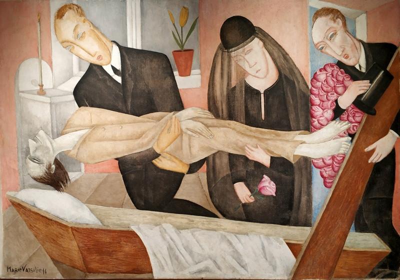 Мария Васильева. Прощание с художником. Пьета. 1920-е. Холст, масло. Частное собрание.