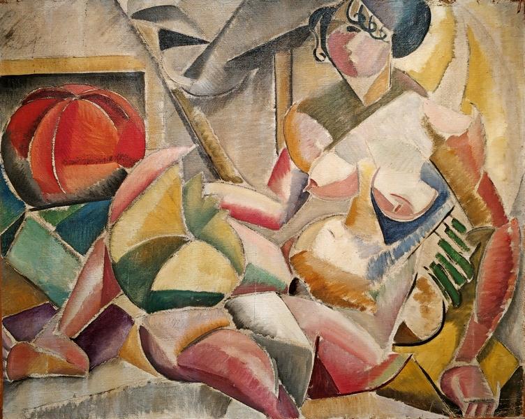 Мария Васильева. Обнаженная. 1910-е. Коллаж. Частное собрание, Париж.
