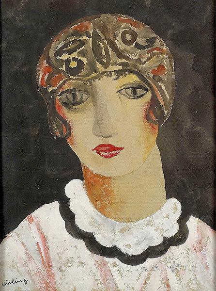 Моис Кислинг (1891-1953). Портрет Кики. 1920-е. Бумага, гуашь. Частное собрание.