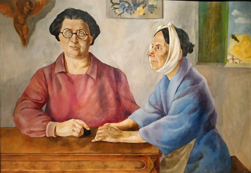 Леонора Фини. Визит. 1924. Холст, масло. Галерея Мински, Париж.