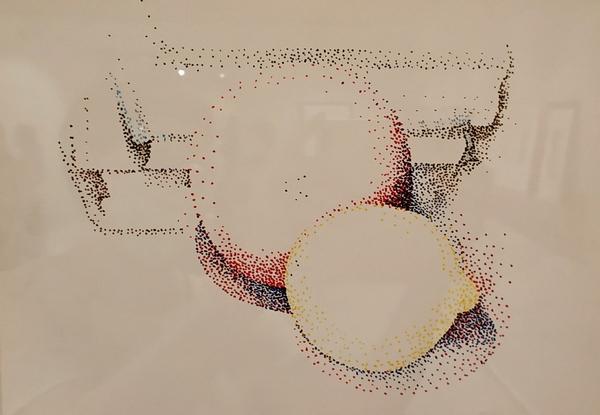 Дора Маар. Натюрморт с фруктами. Бумага, фломастер. Галерея «Минотавр», Париж.