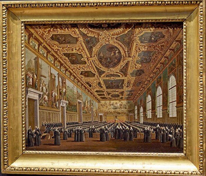 Зал Большого Совета во  Дворце Дожей.