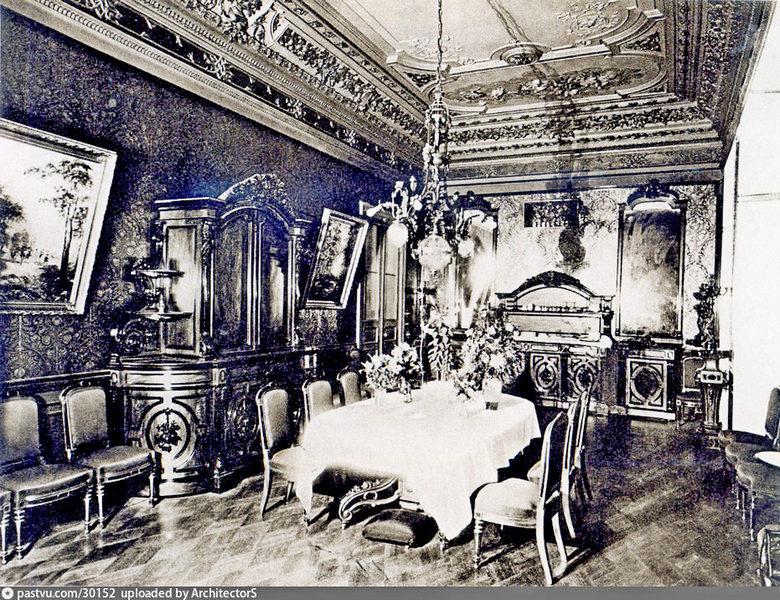 Особняк Коншиной. Столовая. Фото 1910.