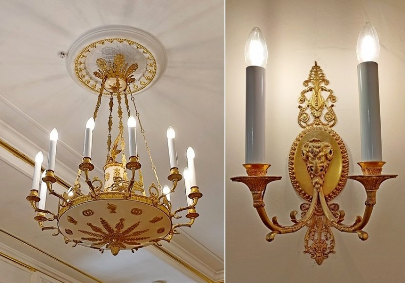 Дизайн современных светильников в стиле ампир.