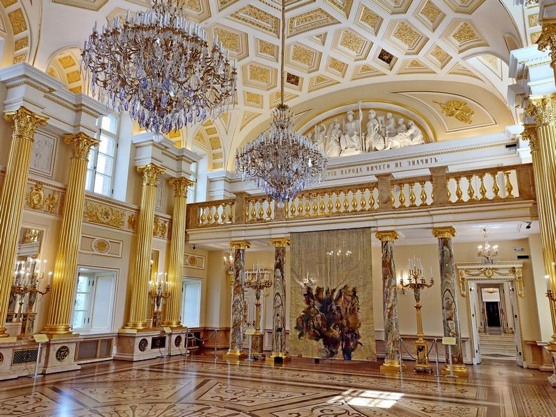Царицыно. Большой дворец. Екатерининский зал. Фото 2021.