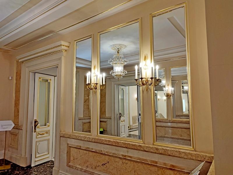 Царицыно. Большой дворец. Зеркальный холл. Фото 2021.