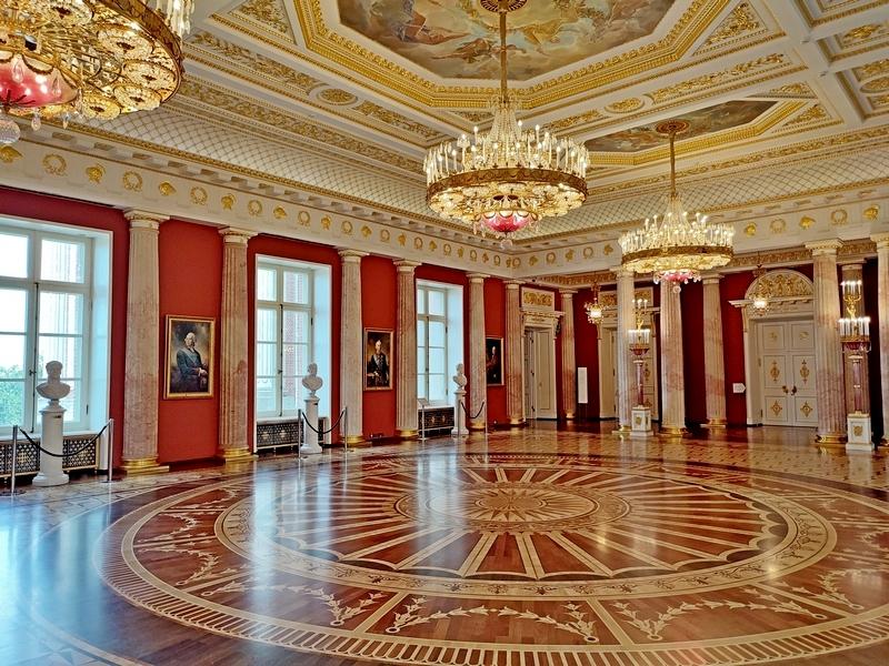 Царицыно. Большой дворец. Таврический зал. Фото 2021.