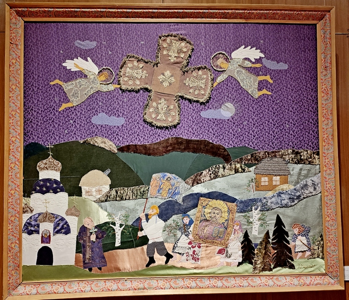 Морозова Г.В. (1956). Панно «Крестный ход». 1993.