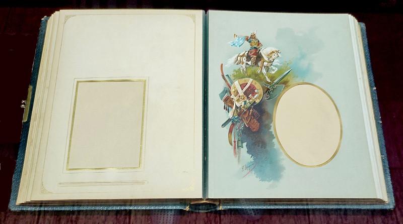 Альбом для фотографий, хромолитографии с оригинальных рисунков Н.Н.Каразина. 1880-е.