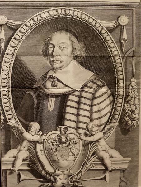 Мишель Лан. Портрет кардинала Ришелье. XVII в. Бумага, гравюра.
