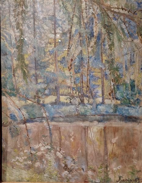 Н.Гончарова. Пейзаж с прудом. 1905. Холст, масло. Собрание И.Г.Сановича. В частном собрании.