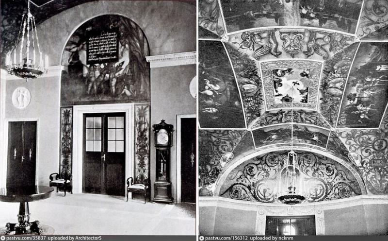 Холл с росписями Игнатия Нивинского. Фото 1907.