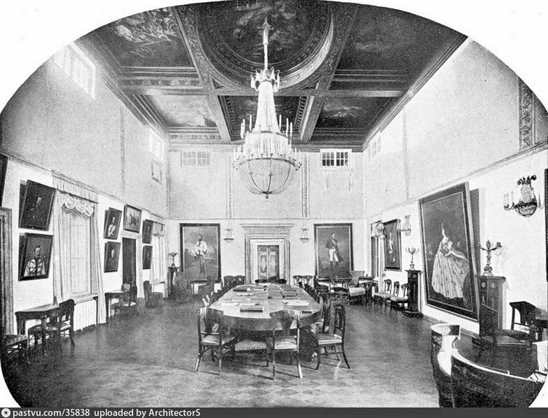 Главный зал Скакового общества. Фото 1908-1912.