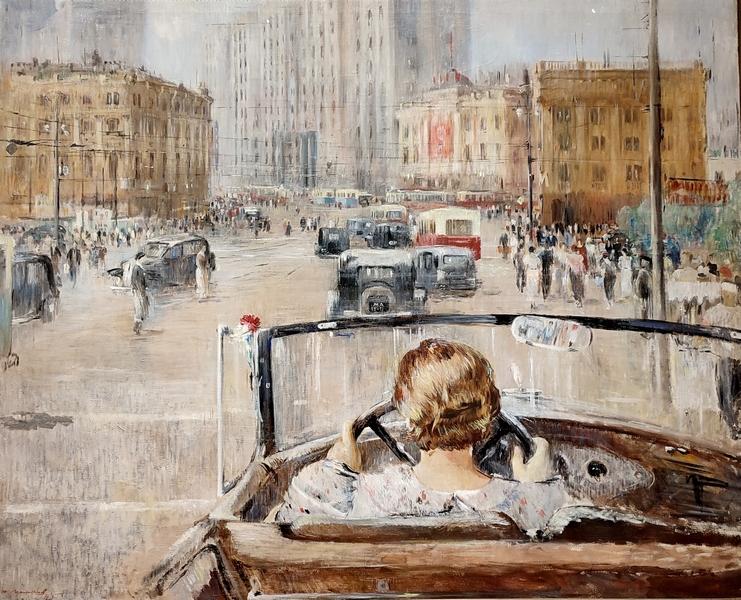 Ю.Пименов. Новая Москва. 1937. Холст, масло. ГТГ.