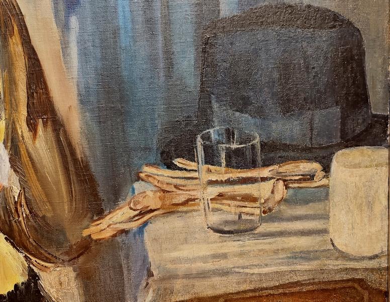 Фрагмент.  Почта пришла. 1940. Холст, масло. Самарский областной художественный музей.