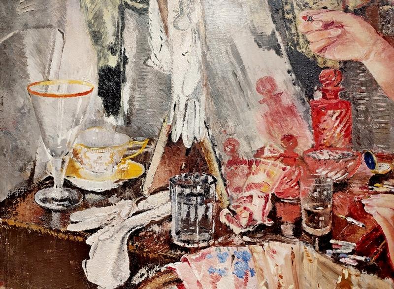 Фрагмент. Актриса. 1935. Холст, масло. ГТГ.