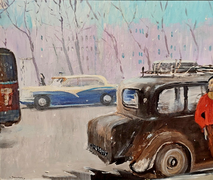 Парижские авто. 1958. Холст, масло. ГТГ.