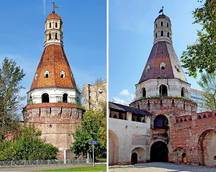 Башня «Солевая». Вид снаружи и изнутри монастырских стен. Фото 2021.