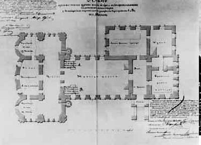 Новая трапезная. План. 1847. Автор неизвестен.