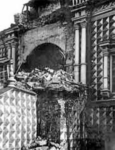 Обрушение парадного крыльца храма. Фото 1928.