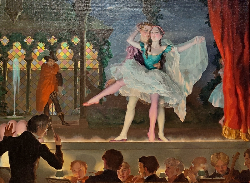 Константин Сомов. Старый балет. 1923. Холст, масло. Частное собрание, Европа.