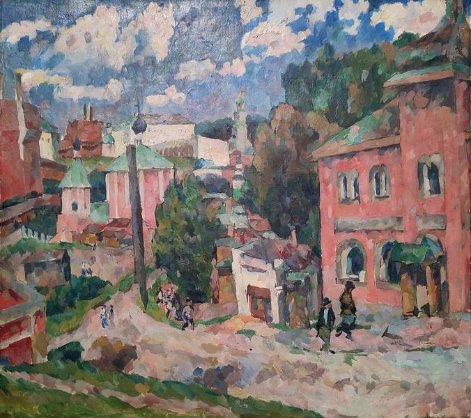 Аристарх Лентулов. Сергиев Посад. 1922. Холст, масло. Национальная галерея Армении, Ереван.