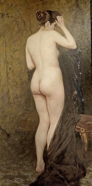 И.Е.Репин. Обнаженная натурщица. Середина 1890-х. Холст, масло. ГТГ.