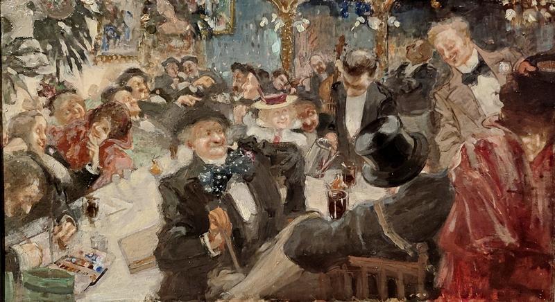 Д.А. Щербиновский. Кафе в Париже. 1898-1899. Холст, масло.