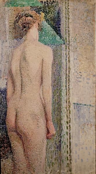 А.А.Кокель. Обнаженная женская модель со спины. 1910-е. Холст, масло. Чувашский государственный художественный музей.