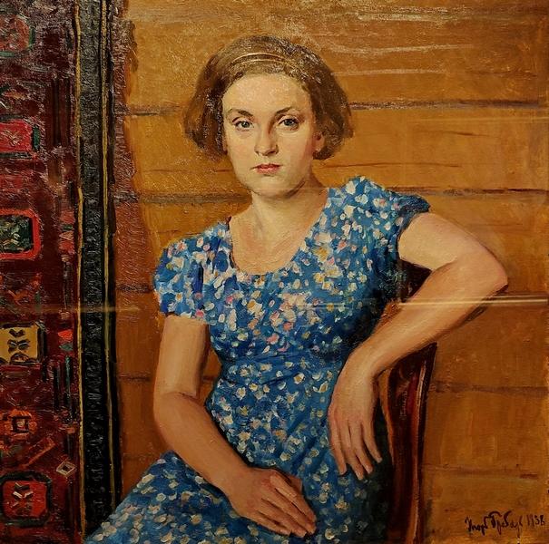 И.Э.Грабарь. Портрет дочери. 1938. Холст, масло. Чувашский государственный художественный музей.