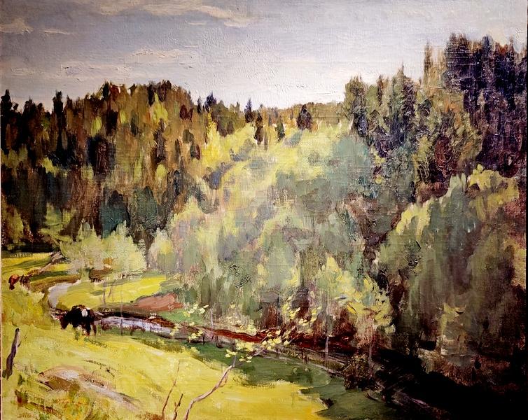О.Э.Браз. Летний пейзаж. Конец 1890-х – 1900-е.