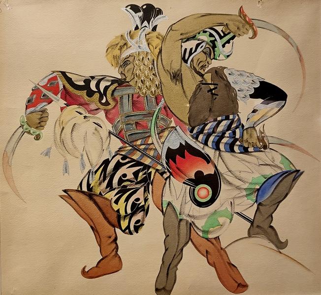 Г.А.Пожидаев (Пожедаев). Эскиз костюма к опере А.П.Бородина «Князь Игорь». 1930-е.