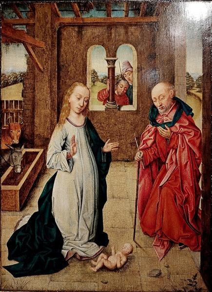 Последователь Дирка Баутса (Харлем, около 1415-1475, Лёвен). Рождество. XV век. Дерево, темпера, масло.
