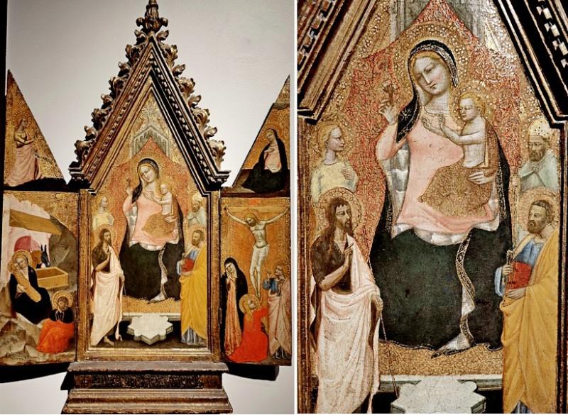 Никколо ди Томмазо (работал во Флоренции между 1346-1376). Триптих. Начало 1360-х. Дерево, темпера, позолота.