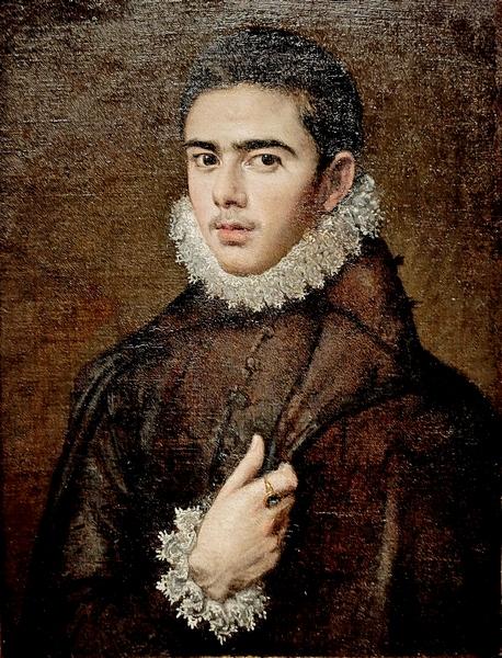 Эль Греко (1541-1614). Портрет молодого мужчины. Около 1577. Холст, масло.