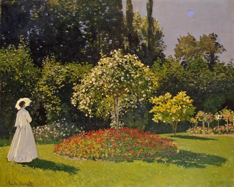 Клод Моне. Дама в саду. 1867. Эрмитаж.