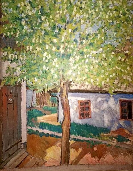М.Ларионов. Цветущее дерево. Тирасполь. 1909. Холст, масло. Частное собрание.